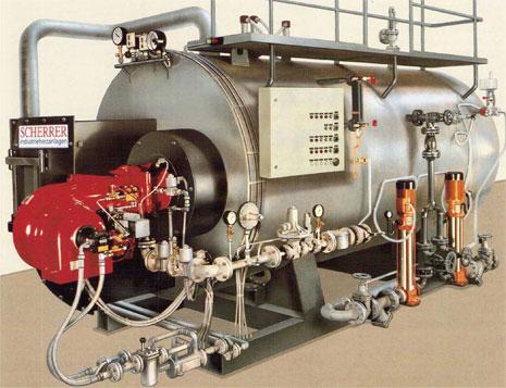 SCHERRER Industrieheizanlagen - steam boiler